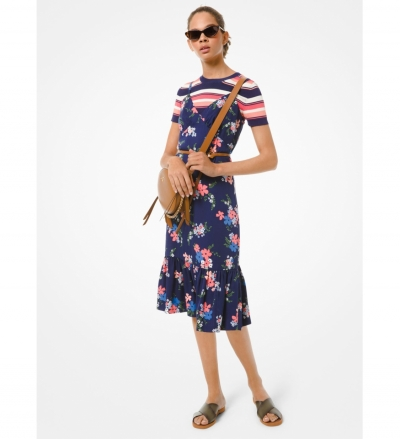 MICHAEL Michael Kors Floral Viscose Slip Dress