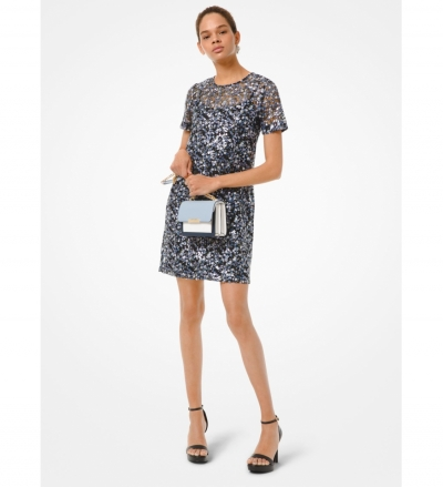 MICHAEL Michael Kors Floral Sequined T-Shirt Dress