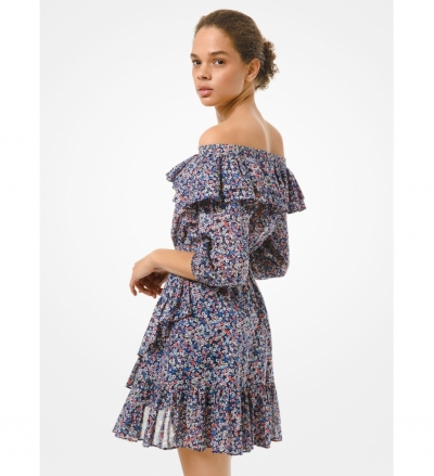 MICHAEL Michael Kors Floral Cotton Lawn Off-the-Shoulder Dress