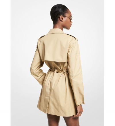 MICHAEL Michael Kors Chain Trim Cotton Trench Coat