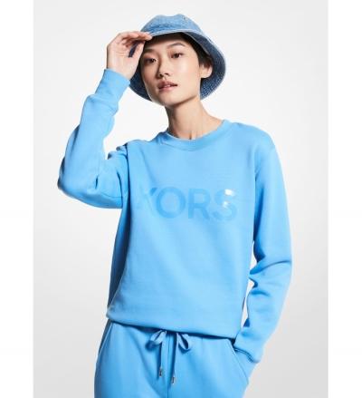 MICHAEL Michael Kors Logo Organic Cotton Blend Sweatshirt