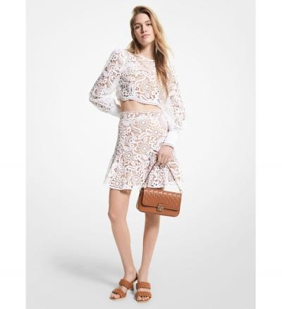 MICHAEL Michael Kors Paisley Lace Mini Skirt