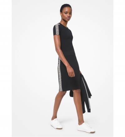 MICHAEL Michael Kors Logo Tape Textured Knit Pencil Skirt