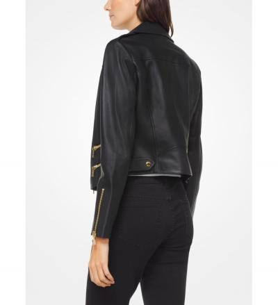 MICHAEL Michael Kors Leather Biker Jacket