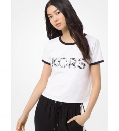 MICHAEL Michael Kors Embellished Cotton-Jersey T-Shirt