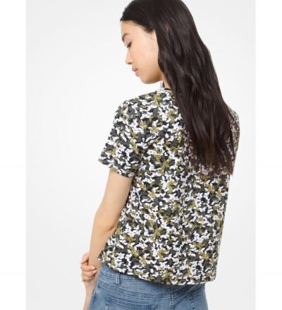 MICHAEL Michael Kors Butterfly Camo Cotton T-Shirt
