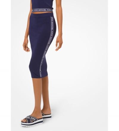 MICHAEL Michael Kors Logo Tape Stretch-Viscose Pencil Skirt