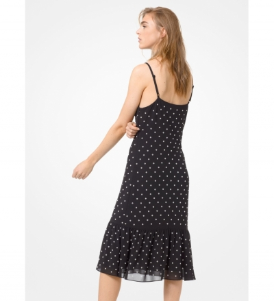 MICHAEL Michael Kors Grommeted Georgette Slip Dress