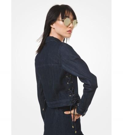 MICHAEL Michael Kors Lace-Up Denim Jacket
