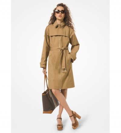 MICHAEL Michael Kors Studded Twill Trench Coat