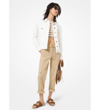 MICHAEL Michael Kors Stretch Cotton Poplin Cargo Pants