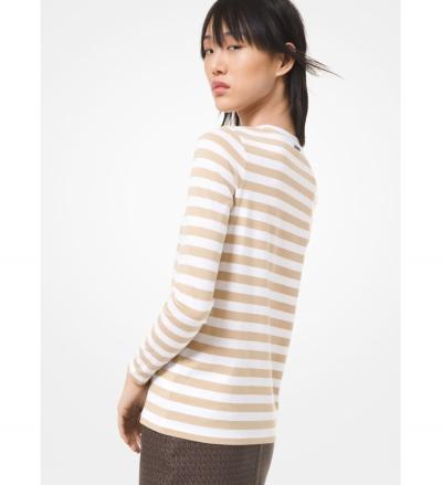 MICHAEL Michael Kors Striped Cotton Jersey Long-Sleeve T-Shirt