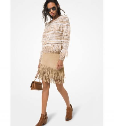 MICHAEL Michael Kors Fringed Suede Skirt