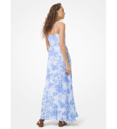 MICHAEL Michael Kors Tie Dye Georgette Pleated Dress
