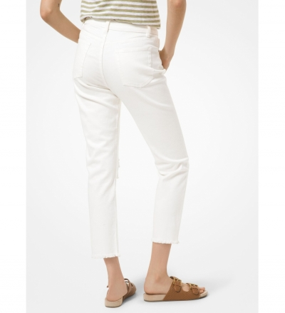 MICHAEL Michael Kors Distressed Denim High-Rise Jeans