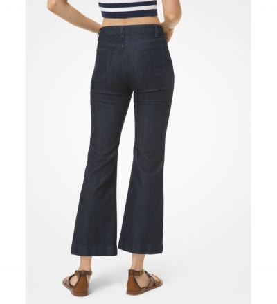 MICHAEL Michael Kors Lace-Up Flared Cropped Jeans
