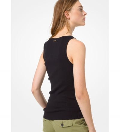 MICHAEL Michael Kors Ribbed Stretch-Viscose Tank Top