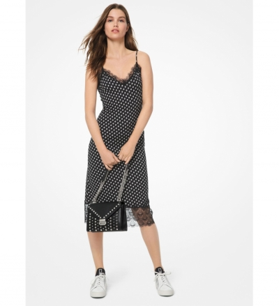 MICHAEL Michael Kors Dot Matte-Jersey Slip Dress
