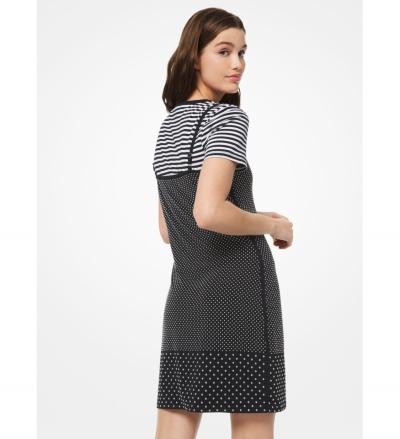 MICHAEL Michael Kors Studded Matte-Jersey Slip Dress