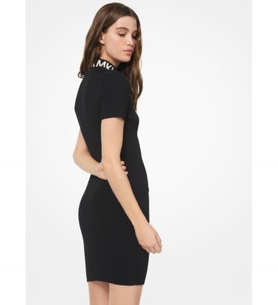 MICHAEL Michael Kors Ribbed Stretch-Viscose Zip-Front Dress