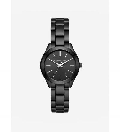 Michael Kors Mini Slim Runway Black-Tone Watch
