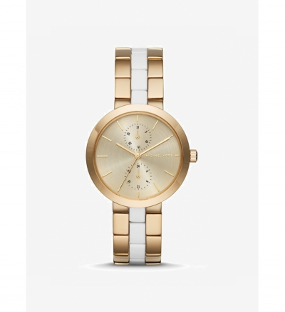 Michael Kors Garner Gold-Tone Acetate Watch