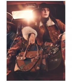 MICHAEL Michael Kors Carmen Large Patchwork Embossed Leather Belted Satchel