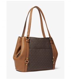 MICHAEL Michael Kors Carrie Large Logo Shoulder Bag