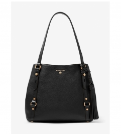 MICHAEL Michael Kors Carrie Large Pebbled Leather Shoulder Bag
