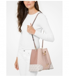 MICHAEL Michael Kors Mercer Gallery Medium Color-Block Logo Shoulder Bag