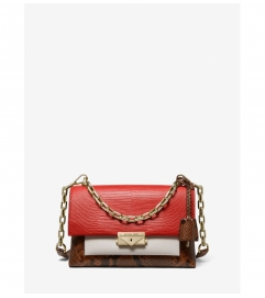 MICHAEL Michael Kors Cece Medium Color-Block Embossed Leather Convertible Shoulder Bag