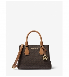 MICHAEL Michael Kors Camille Small Logo and Leather Satchel