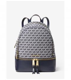 MICHAEL Michael Kors Rhea Medium Logo Jacquard Backpack