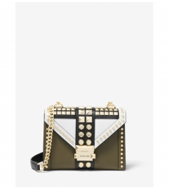 MICHAEL Michael Kors Whitney Small Studded Tri-Color Saffiano Leather Shoulder Bag