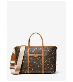 MICHAEL Michael Kors Beck Medium Star-Embellished Logo Tote Bag