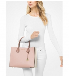 MICHAEL Michael Kors Mercer Large Color-Block Saffiano Leather Tote Bag