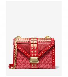 MICHAEL Michael Kors Whitney Large Star Embellished Logo and Leather Convertible Shoulder Bag
