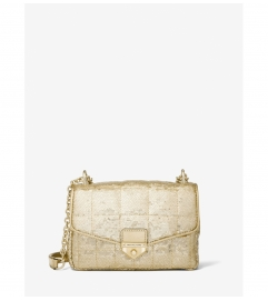 MICHAEL Michael Kors Soho Small Metallic Sequined Quilted Shoulder Bag