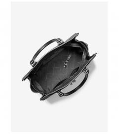 MICHAEL Michael Kors Nouveau Hamilton Large Logo Metallic Stripe Satchel