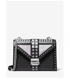 MICHAEL Michael Kors Whitney Large Star Embellished Logo and Leather Convertible Shoulder Bag