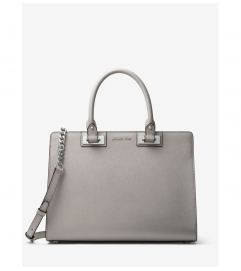 MICHAEL Michael Kors Quinn Large Saffiano Leather Satchel