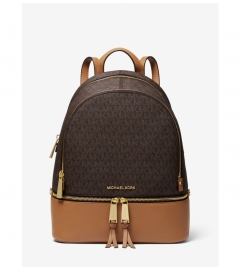 MICHAEL Michael Kors Rhea Medium Logo and Pebbled Leather Backpack