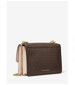 MICHAEL Michael Kors Jade Large Logo and Leather Crossbody Bag