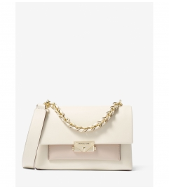 MICHAEL Michael Kors Cece Medium Two-Tone Leather Shoulder Bag