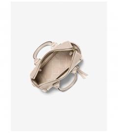 MICHAEL Michael Kors Carine Small Studded Pebbled Leather Satchel