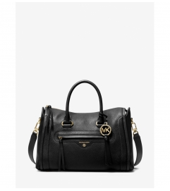 MICHAEL Michael Kors Carine Medium Pebbled Leather Satchel