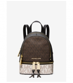 MICHAEL Michael Kors Rhea Mini Color-Block Logo Backpack