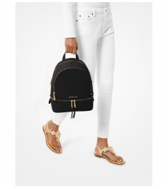MICHAEL Michael Kors Rhea Medium Debossed Logo Leather Backpack