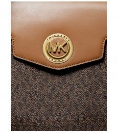 MICHAEL Michael Kors Carmen Large Logo and Leather Belted Satchel