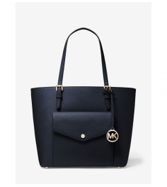 MICHAEL Michael Kors Jet Set Large Leather Pocket Tote Bag